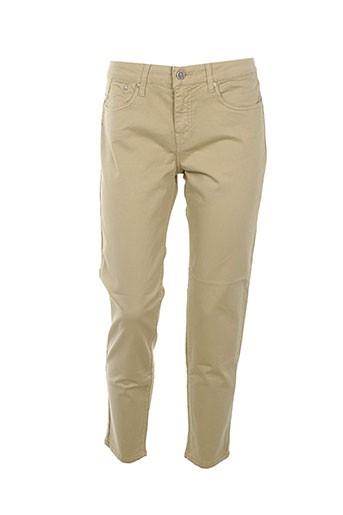 corleone pantalons et decontractes femme de couleur beige
