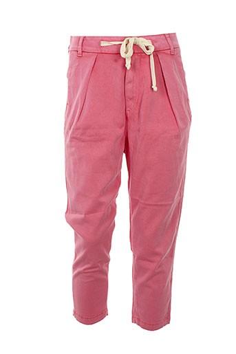 haikure pantacourts femme de couleur rose
