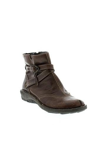 ayoka boots femme de couleur marron