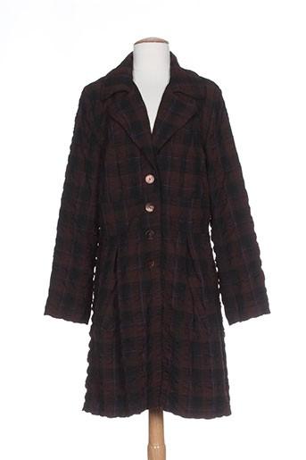 lino factory manteaux femme de couleur marron