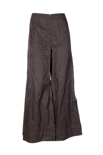 kristina pantalons femme de couleur vert