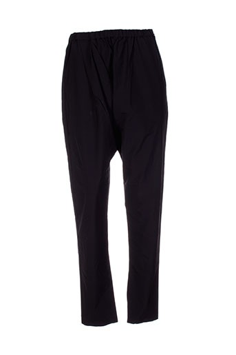 moyuru pantalons femme de couleur noir