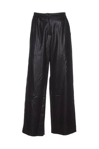 moloko pantalons femme de couleur noir
