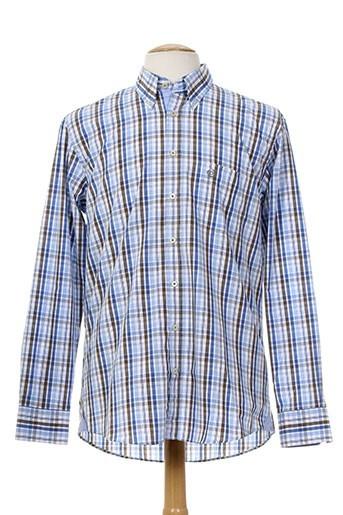 bugatti chemises homme de couleur bleu