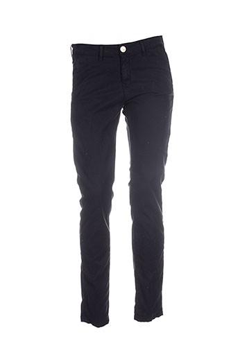 islow pantalons femme de couleur noir