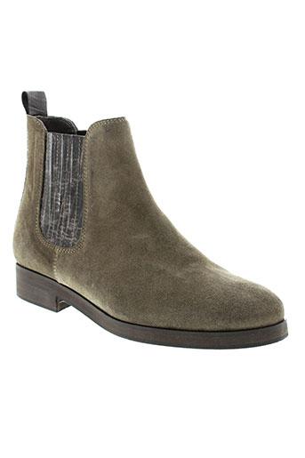 ambiance boots femme de couleur gris