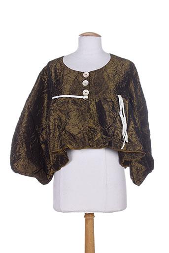 Veste casual marron CATY LESCA pour femme