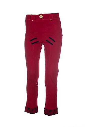 Pantalon casual rouge CATY LESCA pour femme