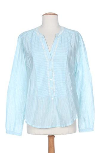 mkt studio t-shirts femme de couleur bleu