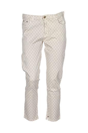 kaffe pantalons femme de couleur beige