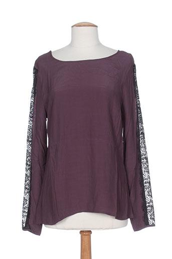 T-shirt manches longues violet MKT STUDIO pour femme