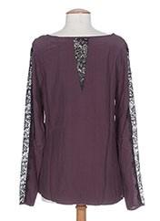 T-shirt manches longues violet MKT STUDIO pour femme seconde vue