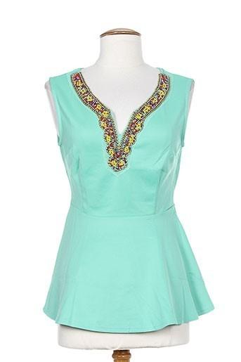 moody's chemises femme de couleur vert