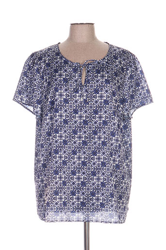 concept k chemises femme de couleur bleu