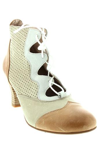 pomares et vazquez boots femme de couleur beige