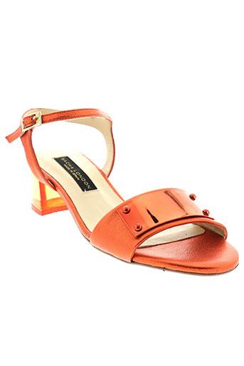 sacha et london sandales et nu et pieds femme de couleur orange