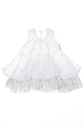 micro bulle robes fille de couleur blanc