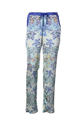 lavand pantalons femme de couleur bleu