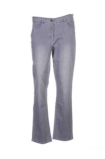 lebek jeans et coupe et droite femme de couleur gris