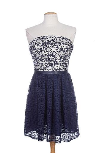 lea lau robes femme de couleur bleu
