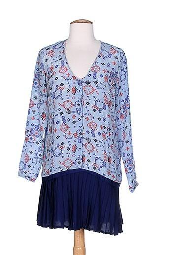 mademoiselle sarong tuniques femme de couleur bleu