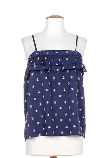cbk chemises femme de couleur bleu