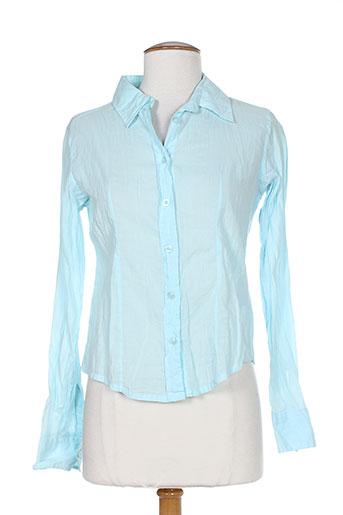 teddy smith chemises fille de couleur bleu