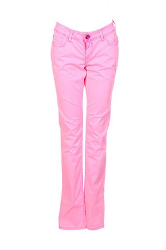 teddy smith pantalons fille de couleur rose