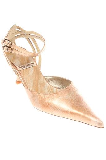 gino vaello chaussures femme de couleur beige