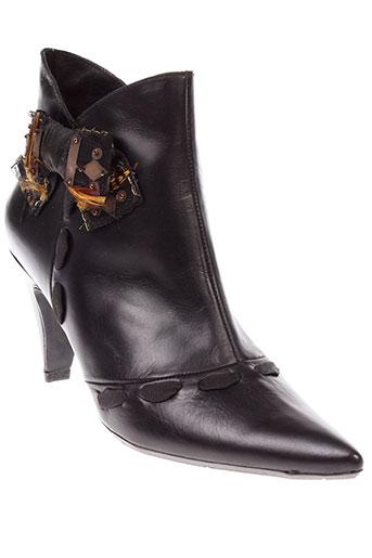 gino et vaello boots femme de couleur noir