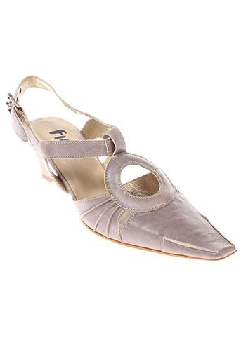 fidji sandales et nu et pieds femme de couleur marron
