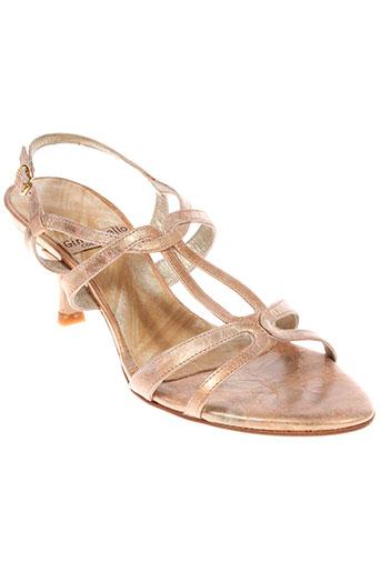 gino et vaello sandales et nu et pieds femme de couleur beige
