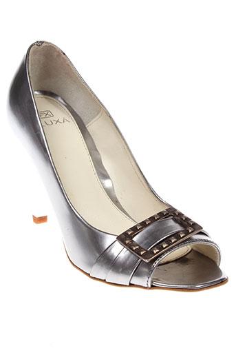 fluxa chaussures femme de couleur gris