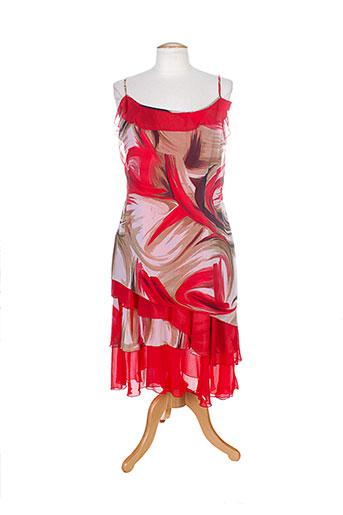 prunelle robes femme de couleur rouge