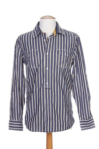blend chemises homme de couleur bleu