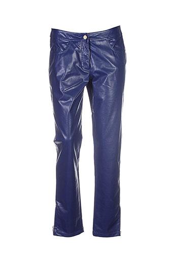 thomas rabe pantalons femme de couleur bleu