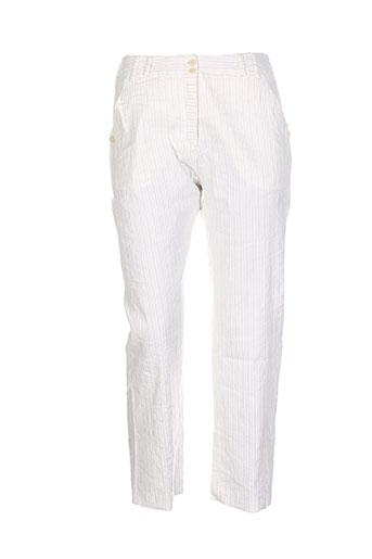 lilith pantacourts femme de couleur blanc