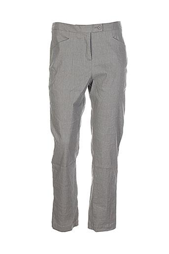 lilith pantalons femme de couleur gris