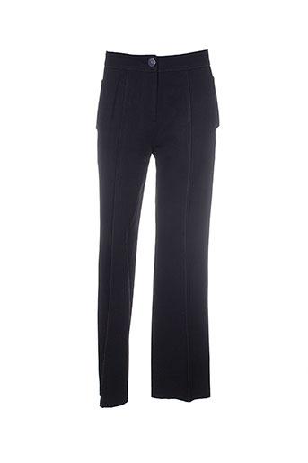 jean-luc francois pantalons femme de couleur noir