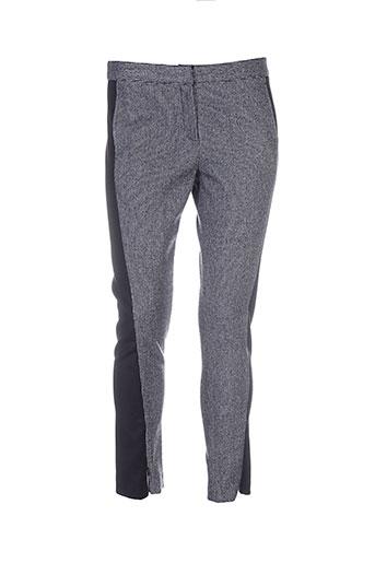 april may pantalons femme de couleur gris
