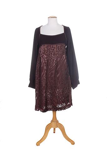 jean-luc francois robes femme de couleur marron