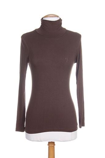 amarillolimon t-shirts femme de couleur marron