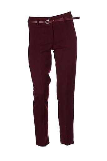 arc en ciel pantalons femme de couleur rouge