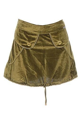 Jupe courte vert AMARILLOLIMON pour femme
