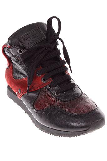 pataugas boots femme de couleur rouge