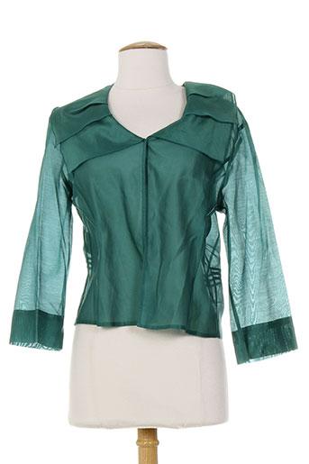 Veste casual vert CLAUDIA GIL pour femme
