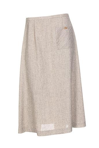 marcelle griffon jupes femme de couleur beige
