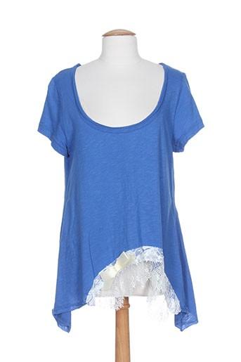 mat. chemises femme de couleur bleu