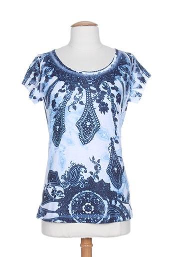 sidecar chemises femme de couleur bleu