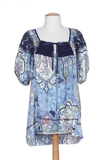 collection privee tuniques femme de couleur bleu